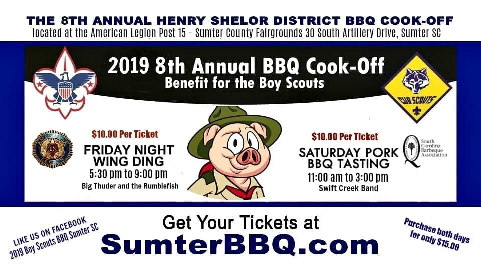 2019 8th Annual BBQ Benefit For Boy Scouts Sumter, SC