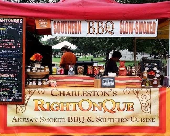 Charleston's RightOnQue BBQ at the Farmer's Market in Charleston