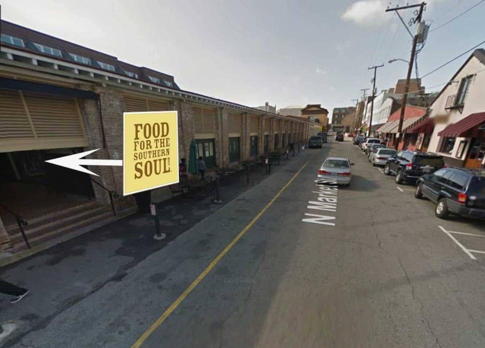 Food for the Southern Soul - Approaching from within the Market building