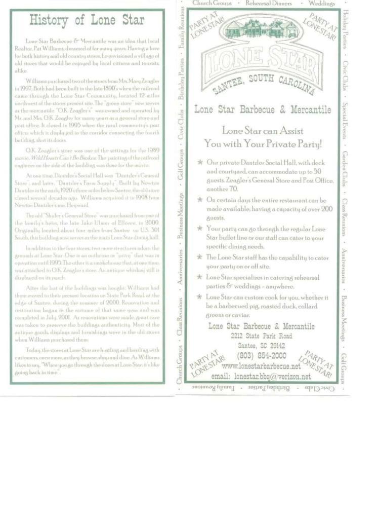 History of Lone Star Brochure