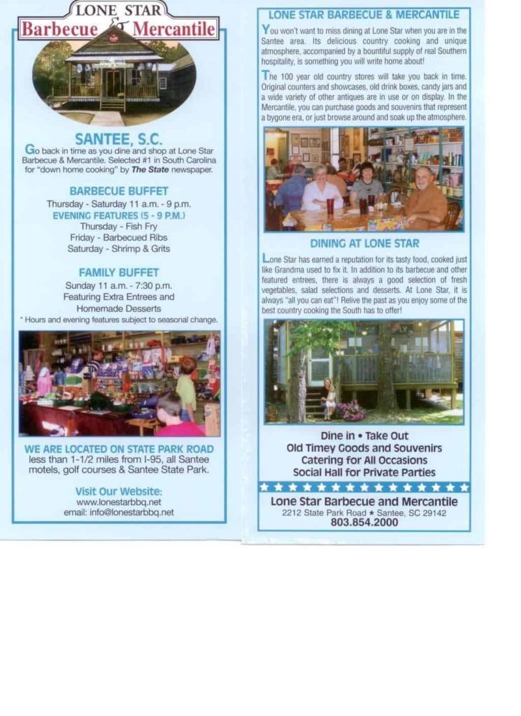 Lone Star BBQ & Mercantile Brochure