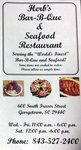 Menu for Herb's BBQ & Seafood in Georgetown