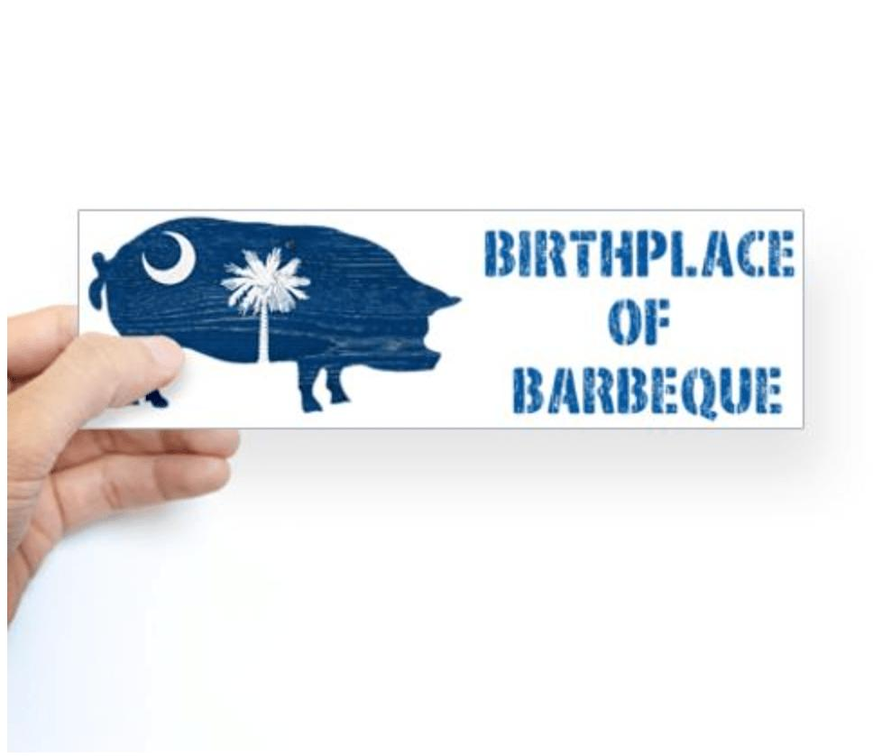 SC Birthplace of BBQ Sticker