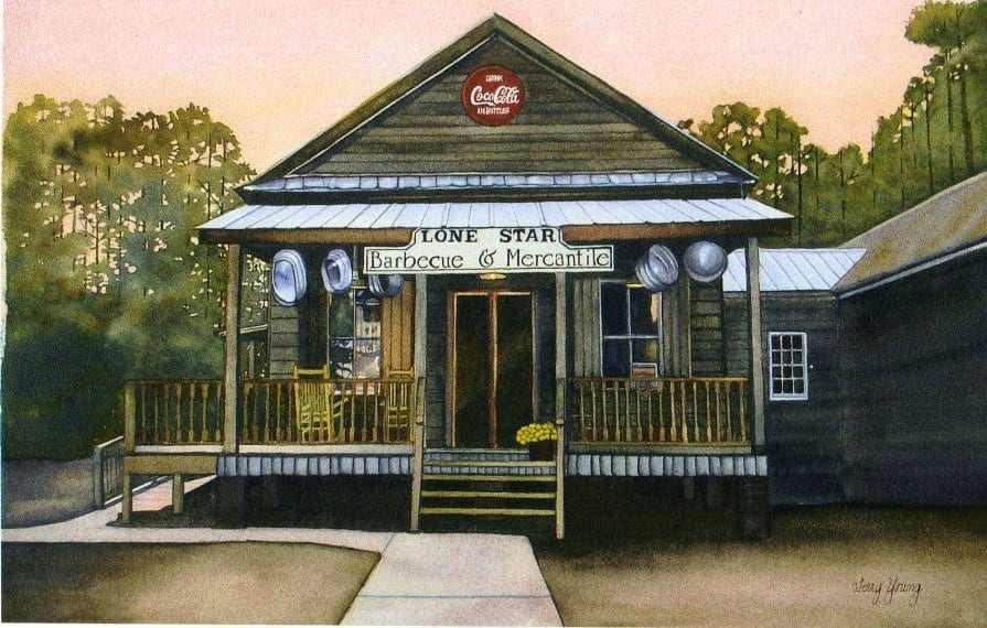 Lone Star Barbecue and Mercantile - Water Color
