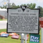 Cooper's Country Store in Salters - Historical Marker