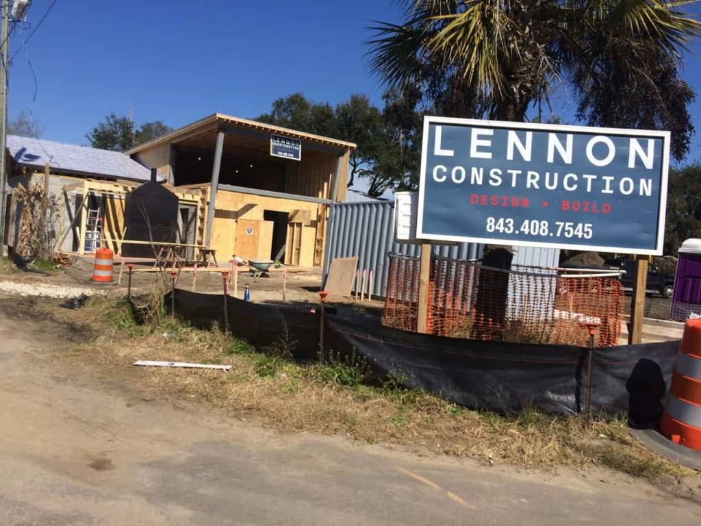Lewis BBQ - Construction - Front