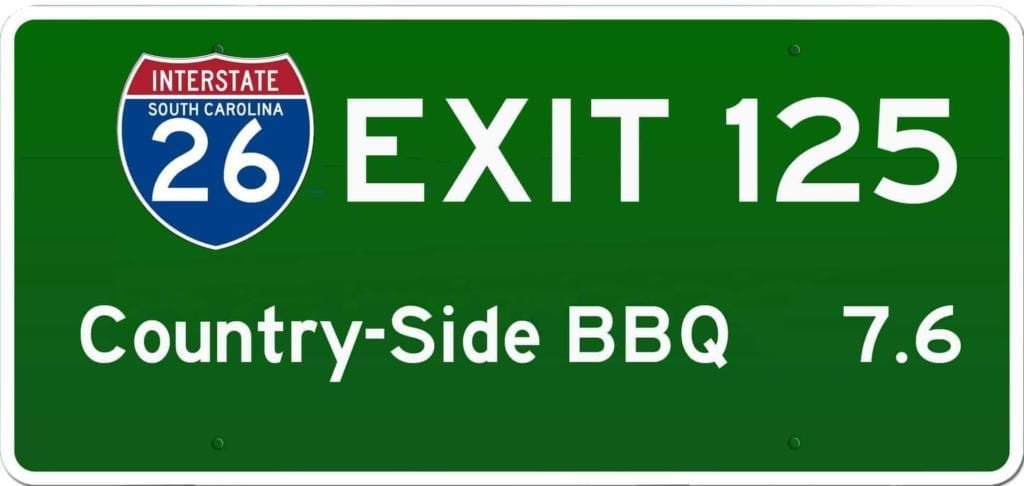 SC BBQ on I-26 at Exit 125