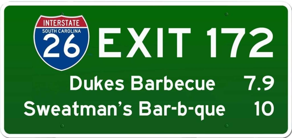 SC BBQ on I-26 at Exit 172