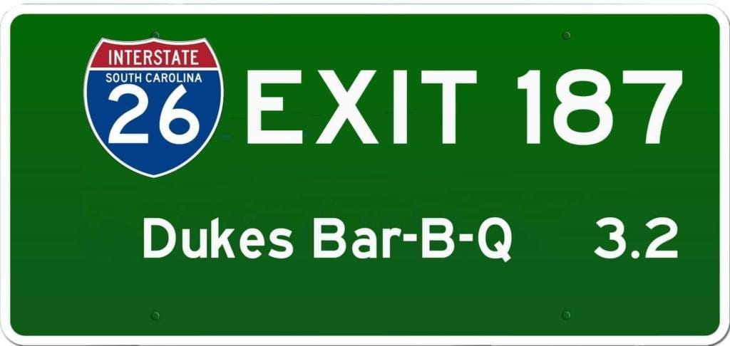 SC BBQ on I-26 at Exit 187