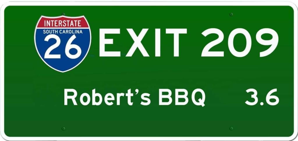 SC BBQ on I-26 at Exit 209