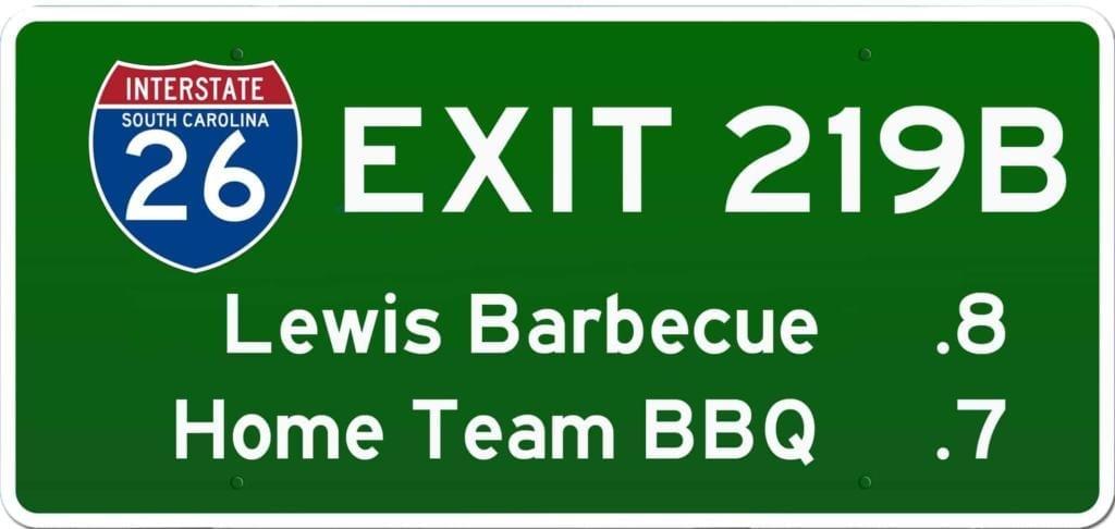 SC BBQ on I-26 at Exit 219B