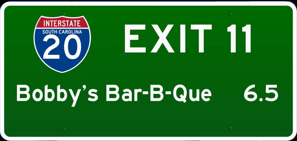 SC BBQ on I-20 at Exit 11