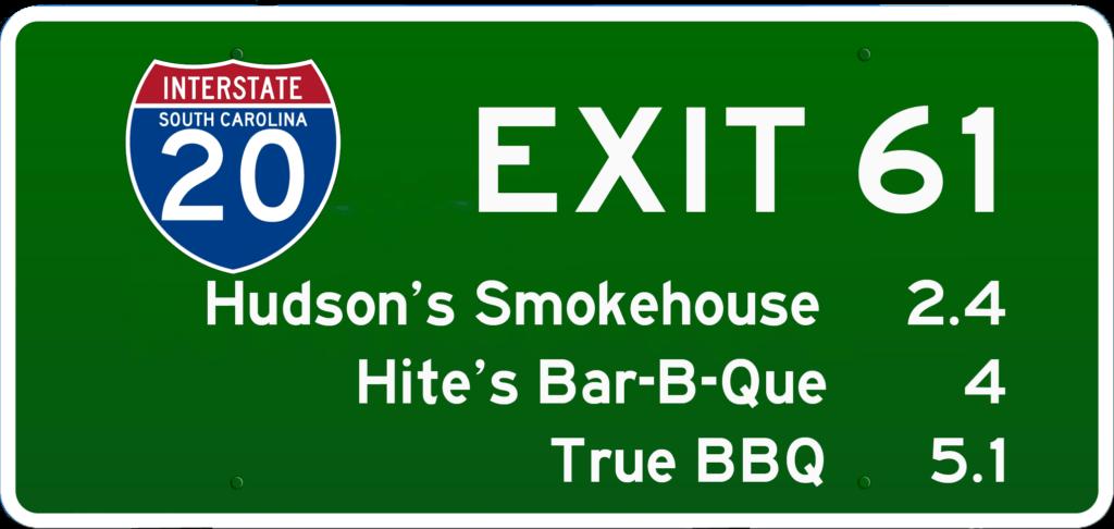 SC BBQ on I-20 at Exit 61