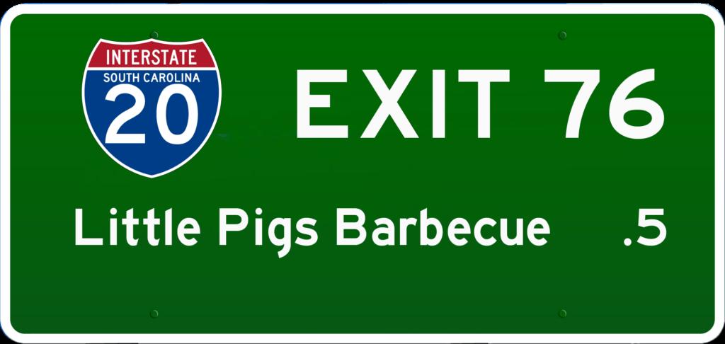 SC BBQ on I-20 at Exit 76