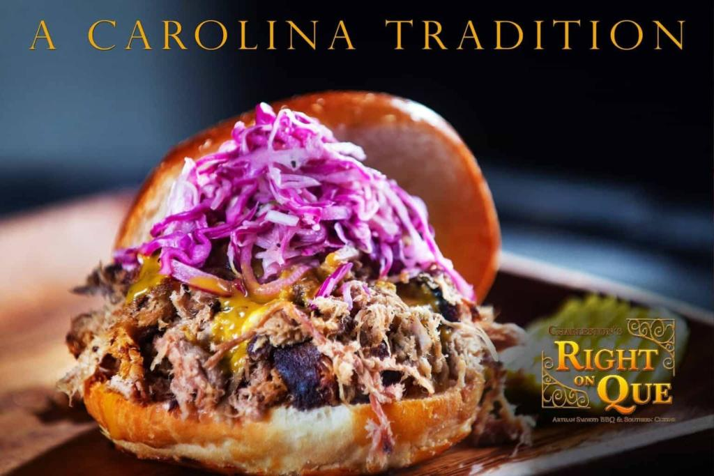 Charleston's RightOnQue - Pulled Pork Sandwich