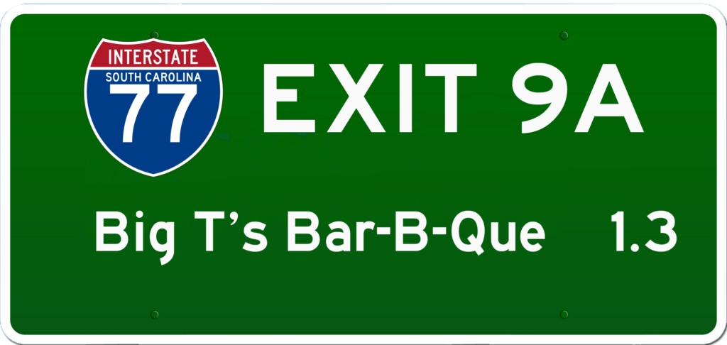 SC BBQ on I-77 at Exit 9A