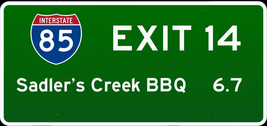 SC BBQ on I-85 at Exit 14