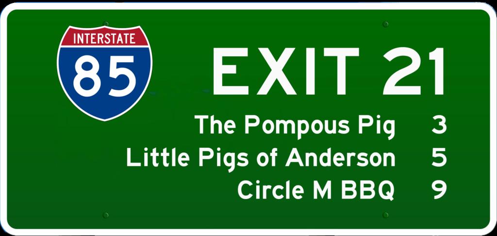 SC BBQ on I-85 at Exit 21
