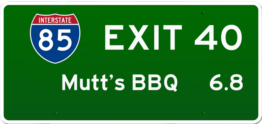 SC BBQ on I-85 at Exit 40