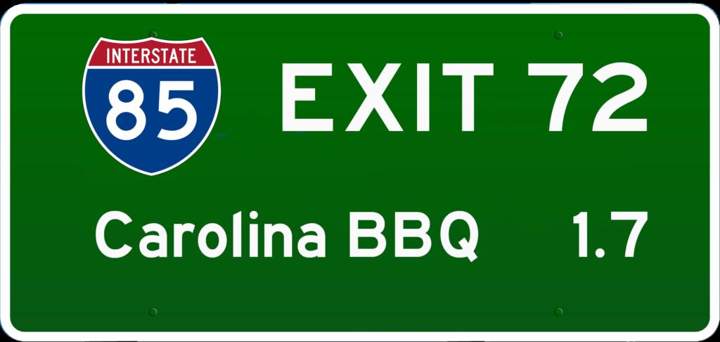 SC BBQ on I-85 at Exit 72