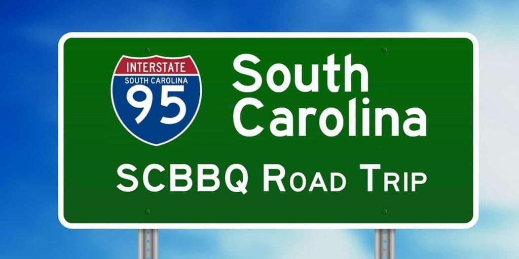 SC BBQ Road Trip Sign Interstate 95