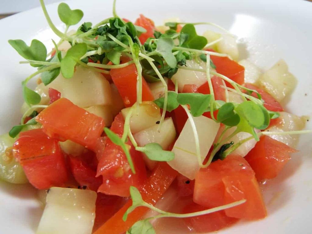 Charleston's RightOnQue - Cucumber Tomato Salad