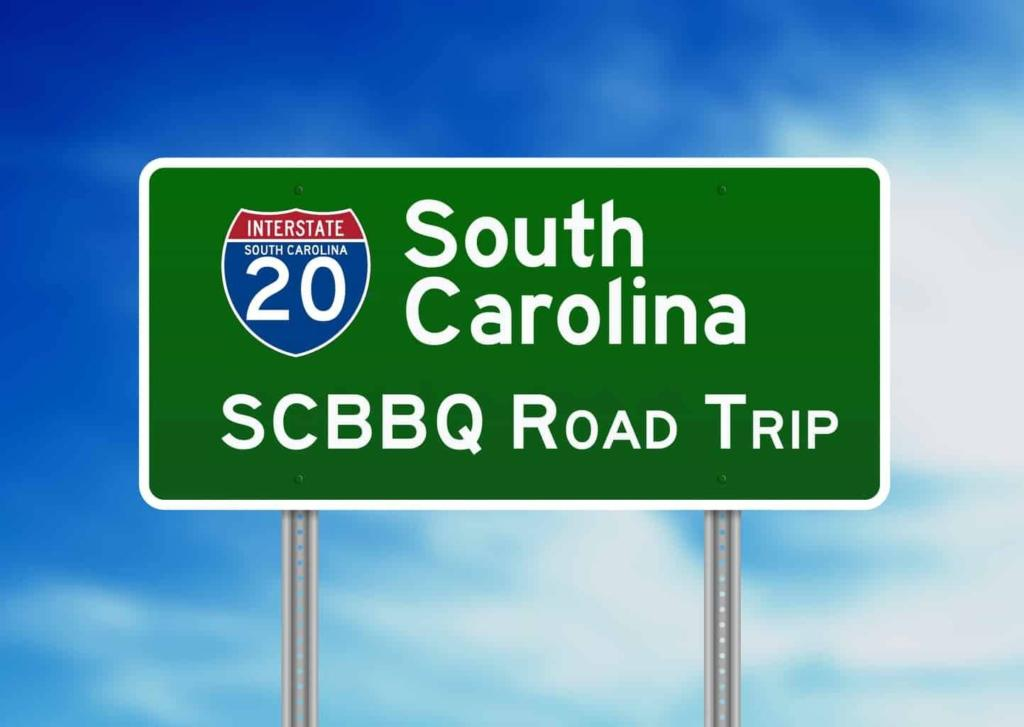 SC BBQ Road Trip I-20 Sign