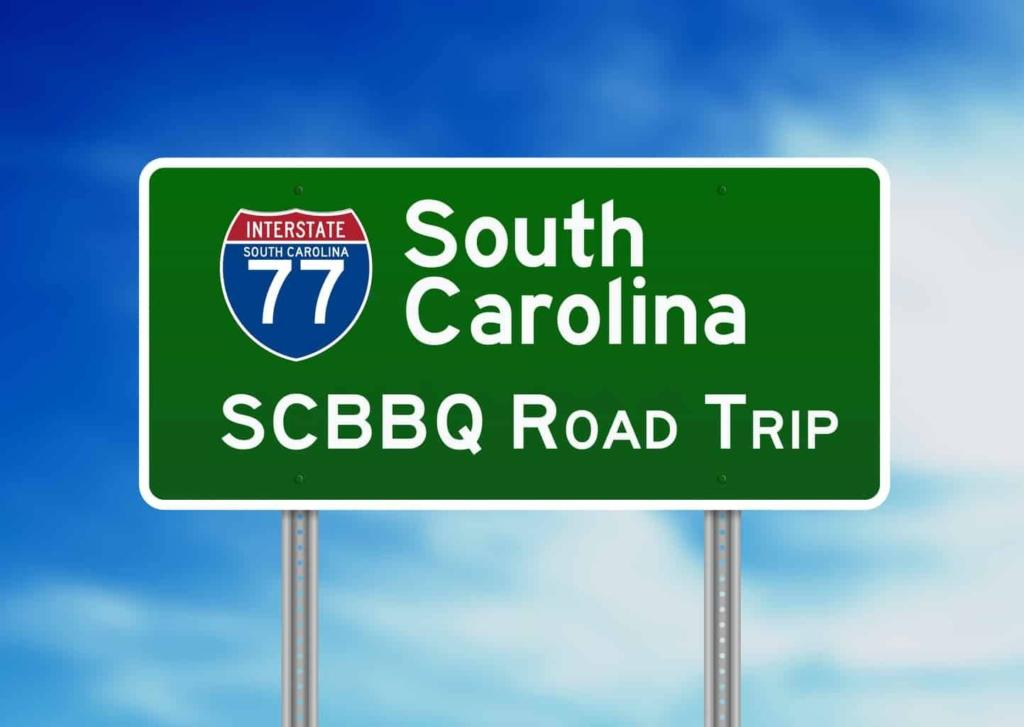 SC BBQ Road Trip I-77 Sign