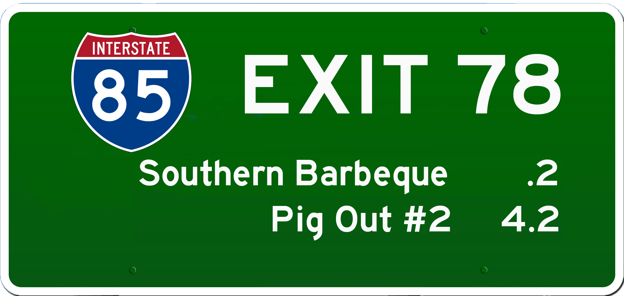 SC BBQ on I-85 at Exit 78