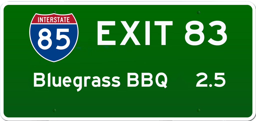 SC BBQ on I-85 at Exit 83