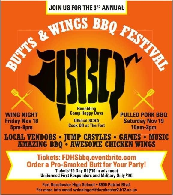 Fort Dorchester Butts and Wings BBQ Festival Poster
