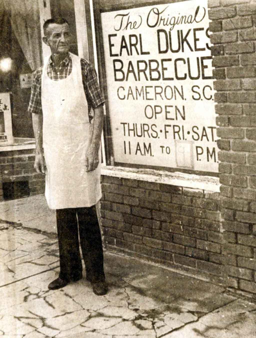 Earl Dukes, founder of Dukes BBQ in Orangeburg