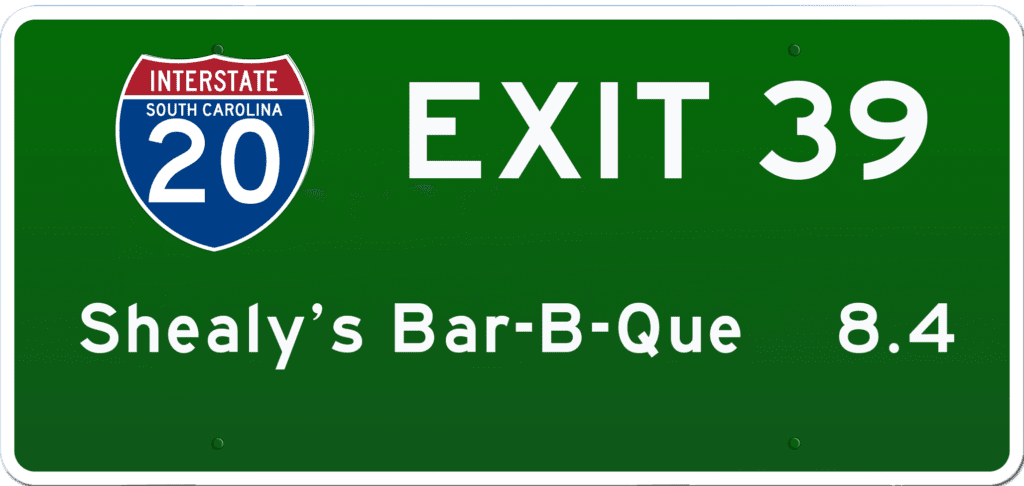 SC BBQ on I-20 at Exit 39