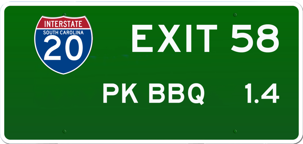 SC BBQ on I-20 at Exit 58