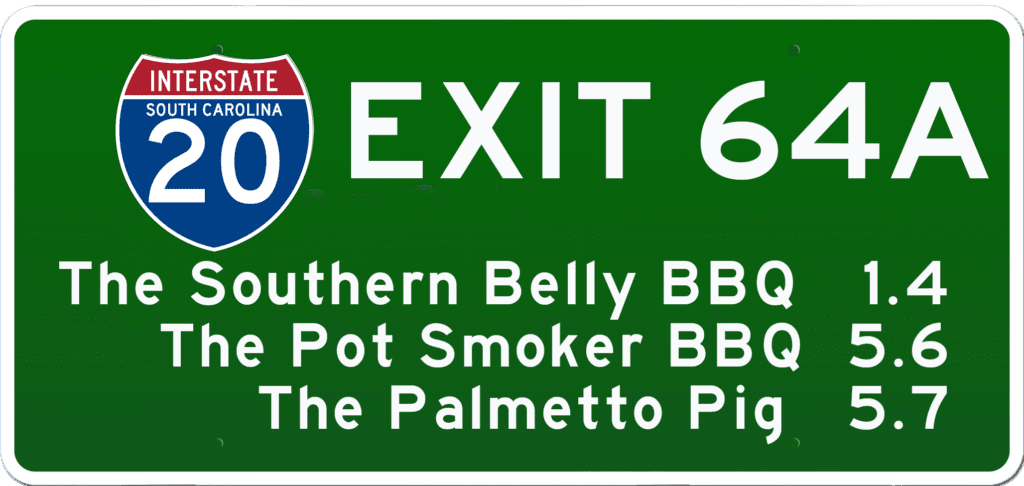 SC BBQ on I-20 at Exit 64A