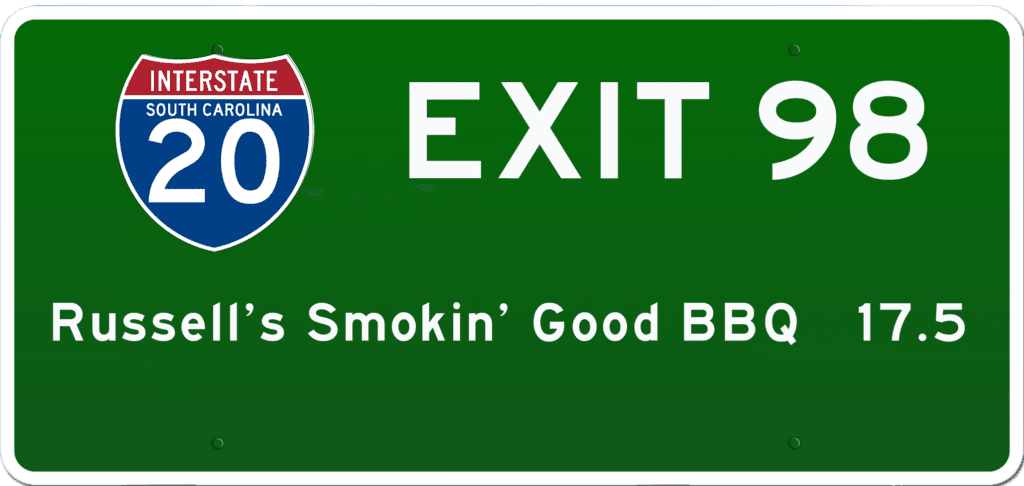 SC BBQ on I-20 at Exit 98