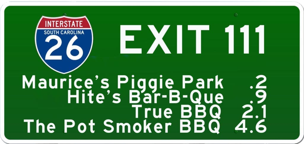 SC BBQ on I-26 at Exit 111