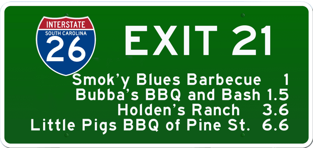 SCBBQ Road Trip: Interstate 26 Exit 21