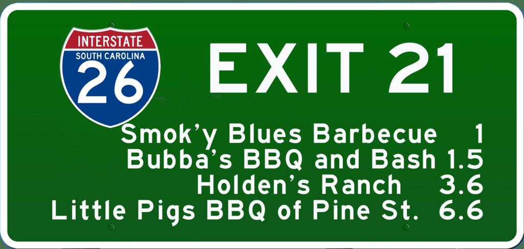 SCBBQ Road Trip: Interstate 26 Exit 21