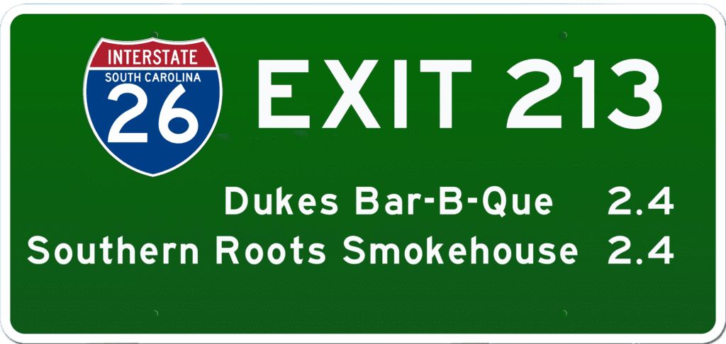SC BBQ on I-26 at Exit 213
