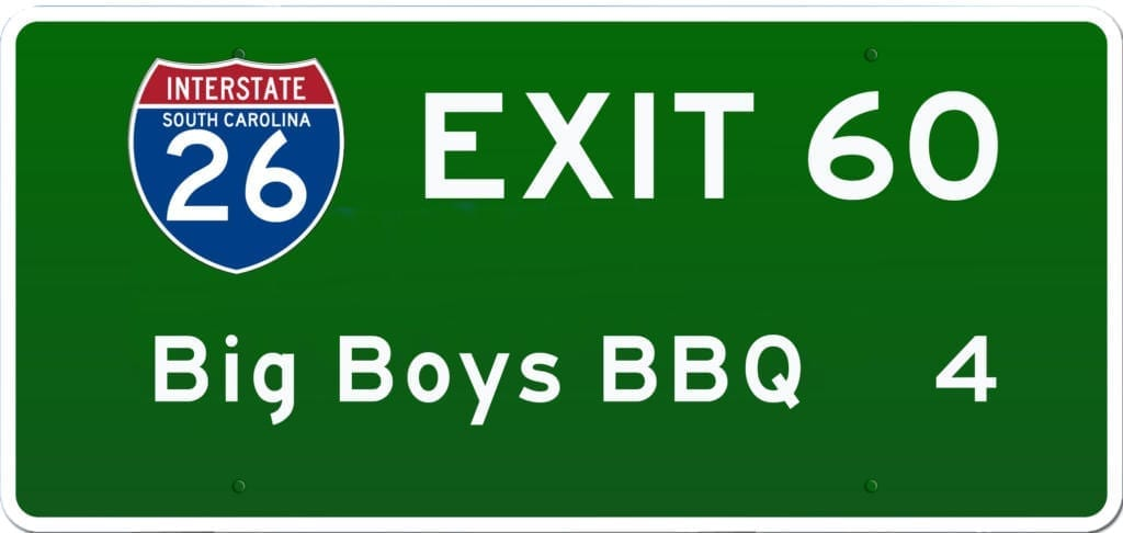 SCBBQ Road Trip: Interstate 26 Exit 60
