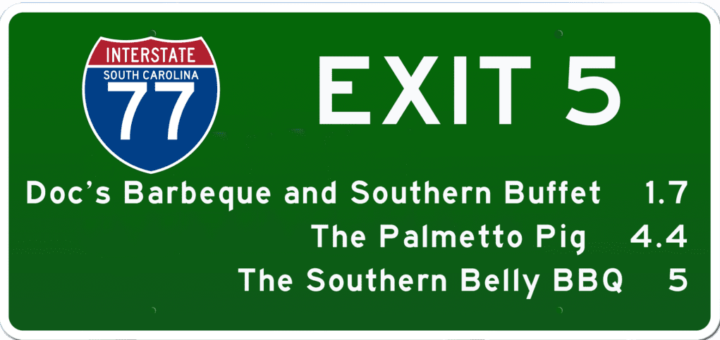 SC BBQ on I-77 at Exit 5