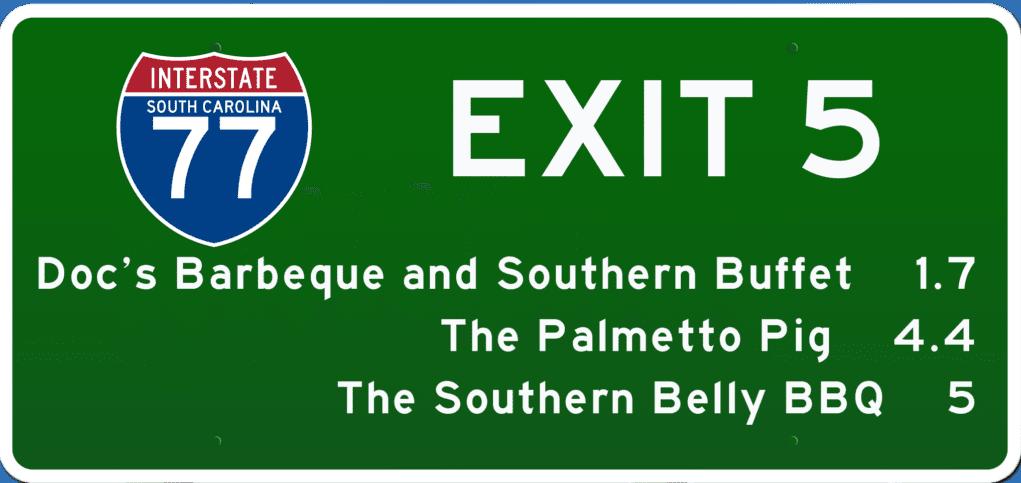 SC BBQ on I-77 at Exit 5
