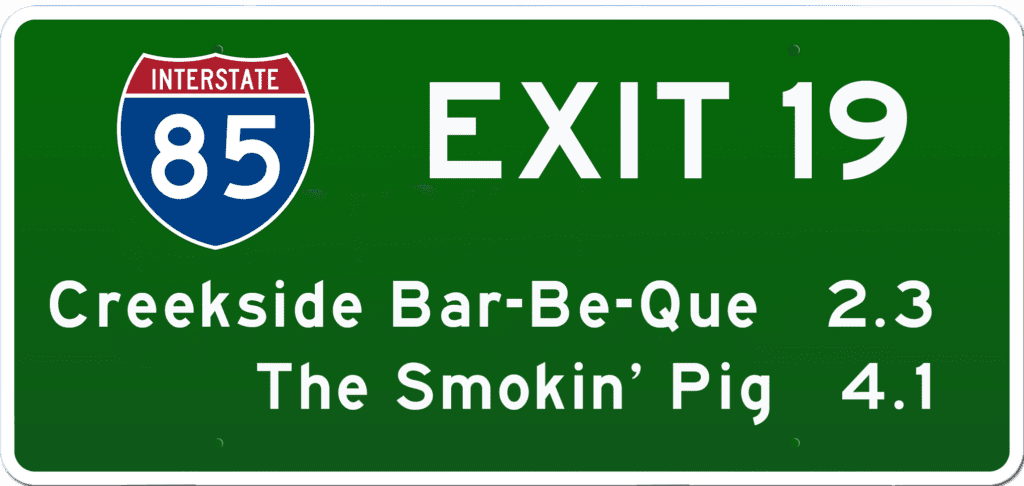 SC BBQ on I-85 at Exit 19