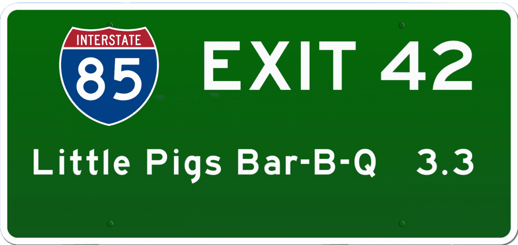 SC BBQ on I-85 at Exit 42