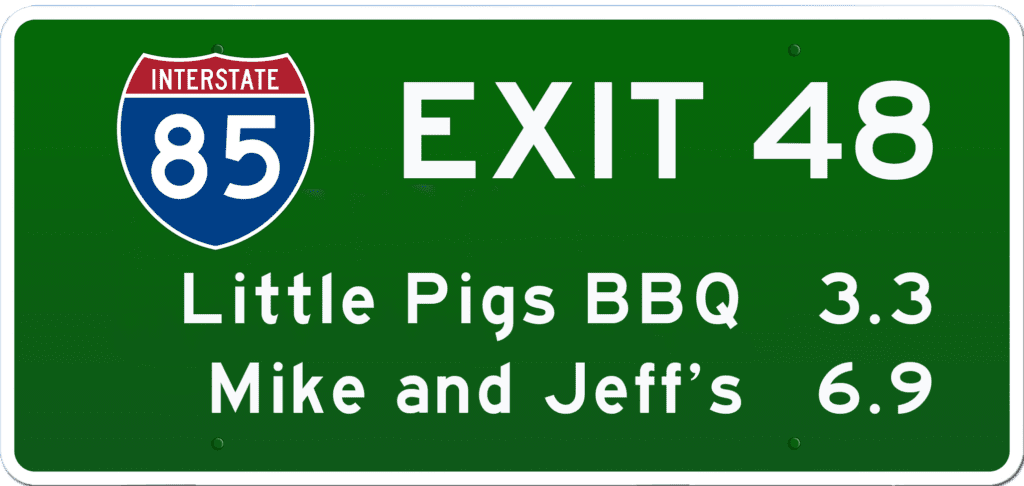 SC BBQ on I-85 at Exit 48