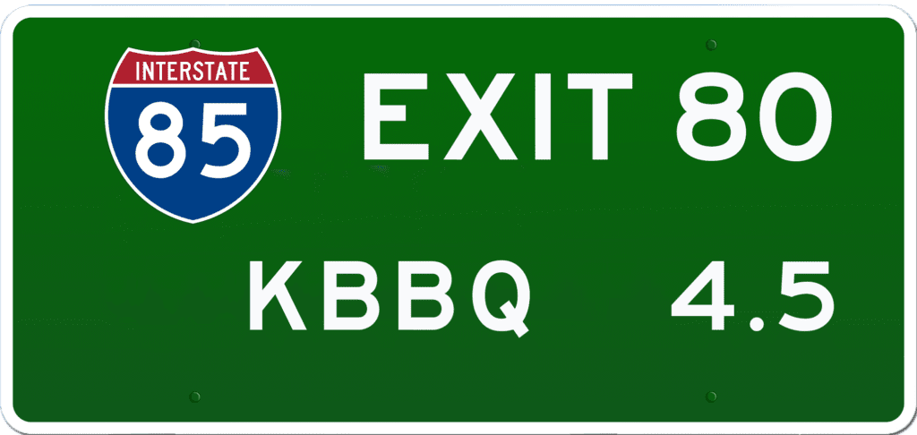 SC BBQ on I-85 at Exit 80
