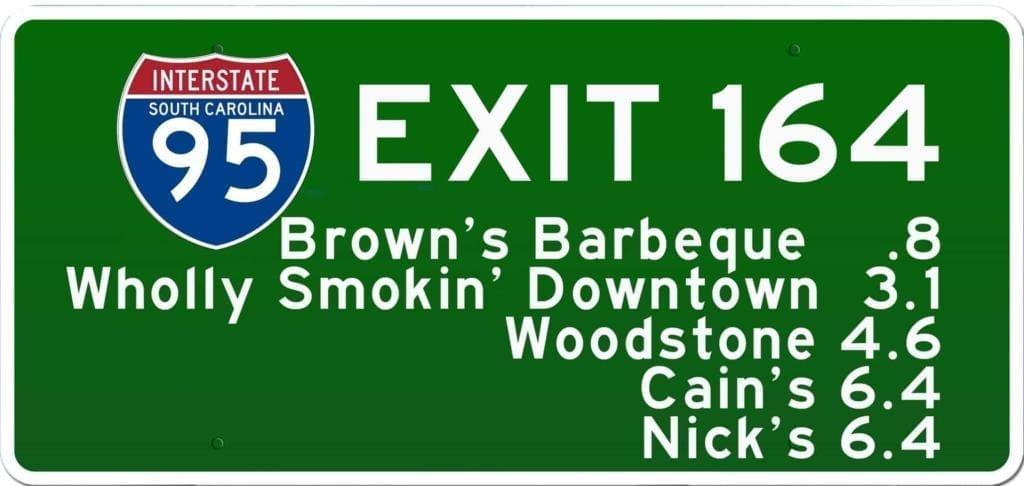 SC BBQ on I-95 at Exit 164
