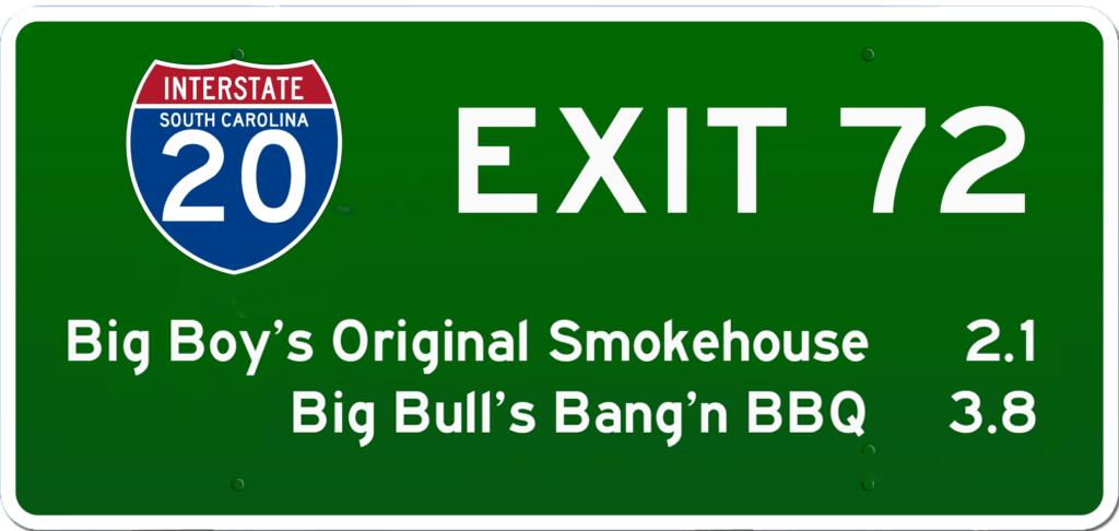 SC BBQ on I-20 at Exit 72