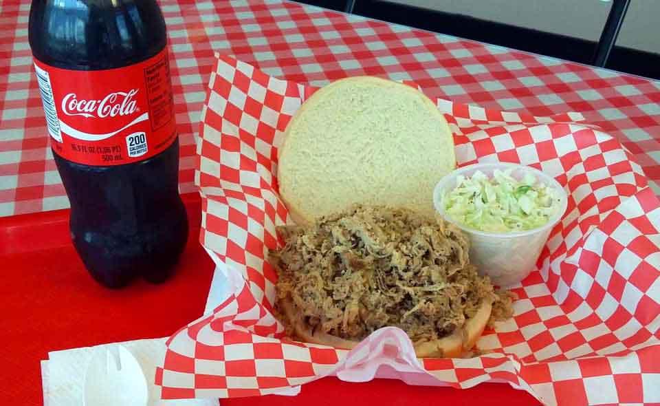 BBQ Sandwich and Slaw at PK BBQ